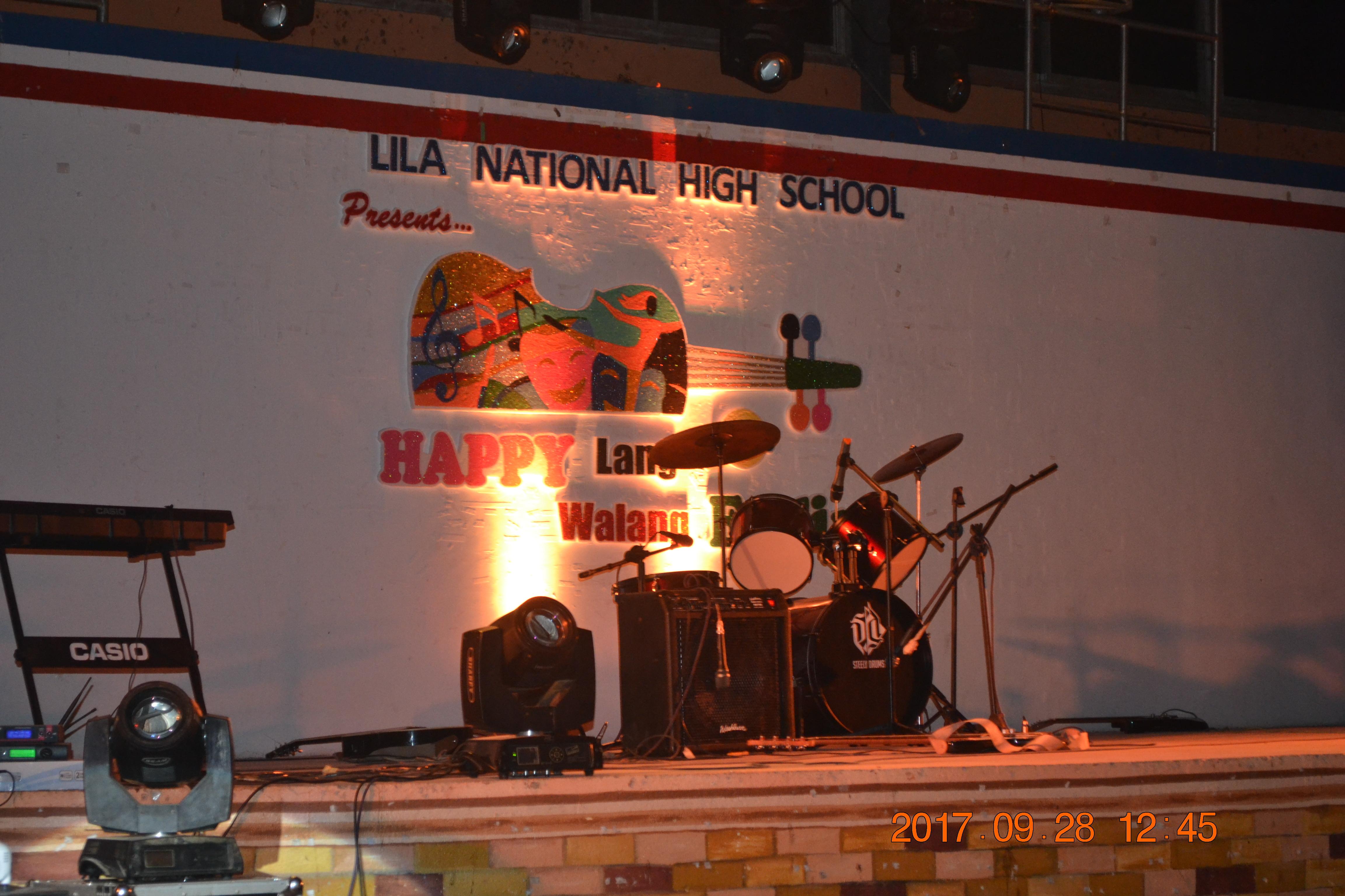 "September 28, 2017 – Lila National High School Night (""HAPPY"
