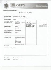 oil & spare parts re-bid