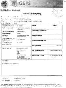 IT materials re-bid