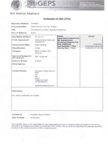 Proc of Off Supplies & Mat