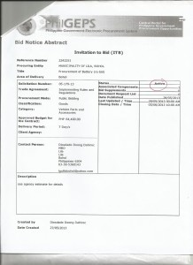 proc of battery (re-bid)